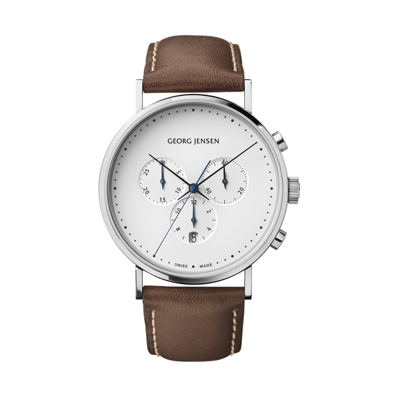 KOPPEL strap - 41 mm, brown leather M