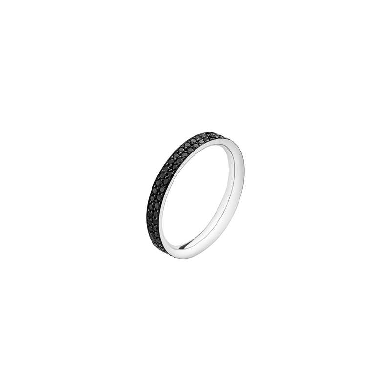 MAGIC ring - 18 kt. white gold with black diamonds