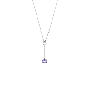 SAVANNAH pendant - sterling silver with amethyst, 45 cm