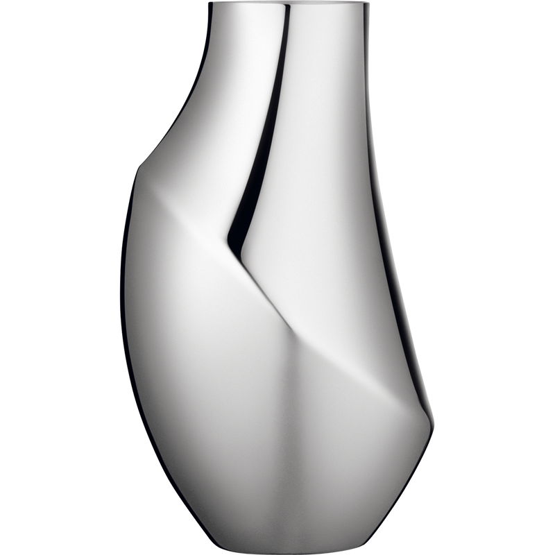Flora Vase Modern Design In Stainless Steel Georg Jensen