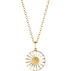 DAISY gold plated pendant with white enamel (18 mm)