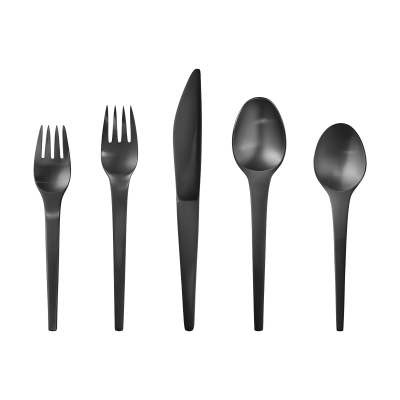 CARAVEL cutlery set - black PVD, 5 pcs. (11, 12, 13, 21, 22)