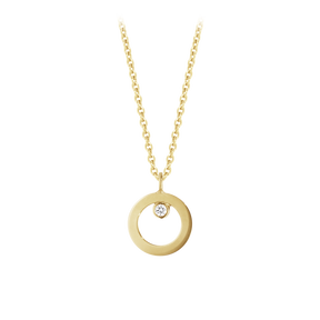 HALO pendant - 18 kt. gold with brilliant cut diamond