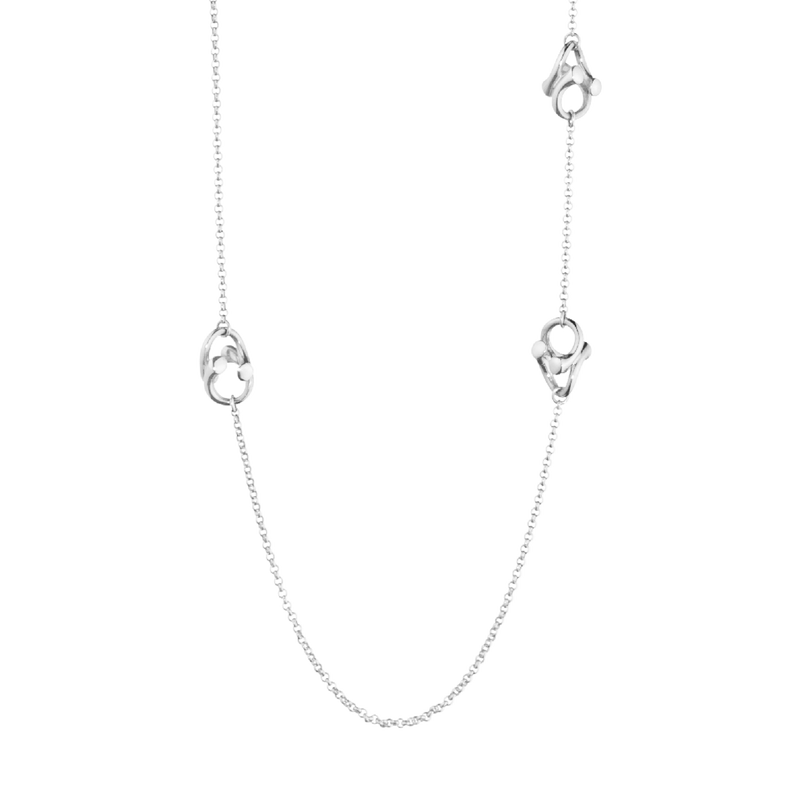 MAGIC necklace - 18 kt. white gold with brilliant cut diamonds