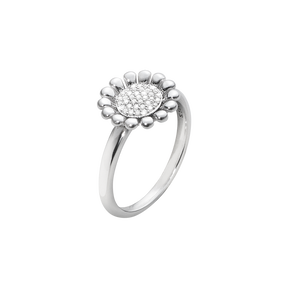 SUNFLOWER ring - sterlingsilver med briljanter, S