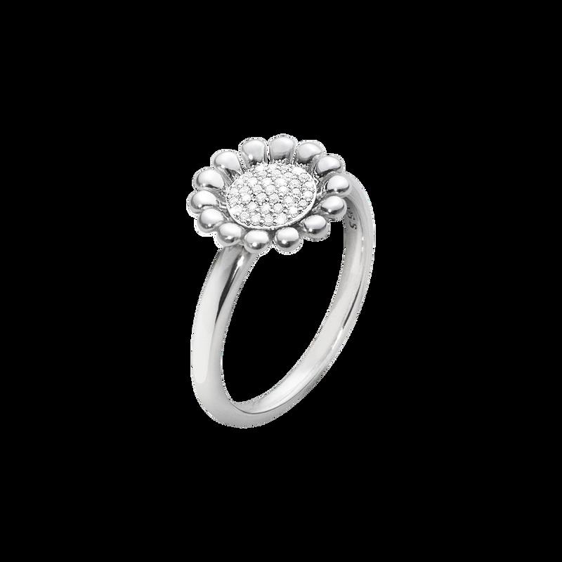 d0818da0a SUNFLOWER ring - sterling silver with brilliant cut diamonds, small ...