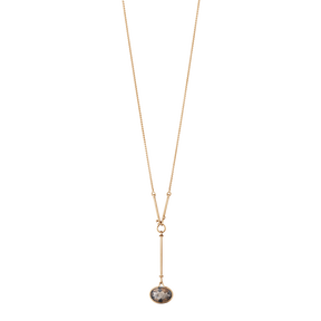 SAVANNAH pendant - 18 kt. rose gold with smokey quartz