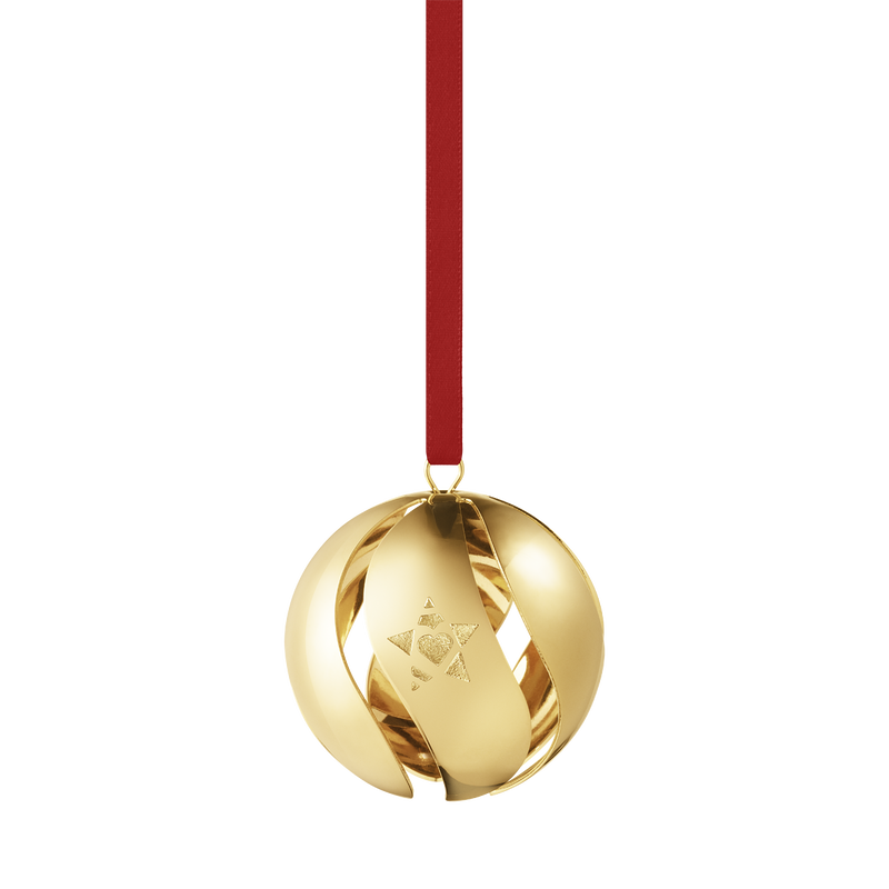 2019 Christmas Ball decoration - Gold plated