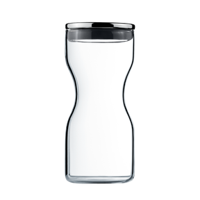 ALFREDO container glass 0,25l Ø60 stainless steel lid