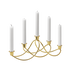 HARMONY candleholder, gold plated