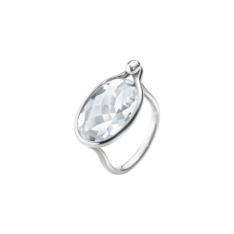 SAVANNAH ring - sterling silver with rock crystal