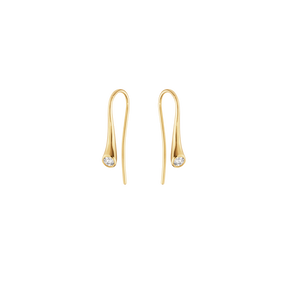 MAGIC earrings - 18 kt. yellow gold with diamonds