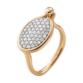 SAVANNAH ring – 18 kt. rosegull med diamanter, medium