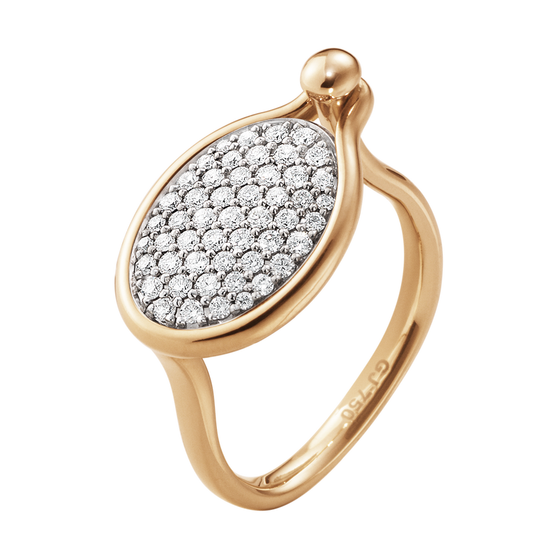 SAVANNAH ring - 18 kt. rose gold with diamonds, medium