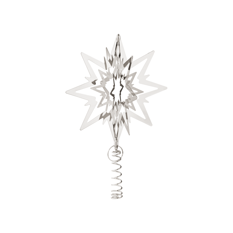 STAR for the Christmas tree, medium, palladium plated