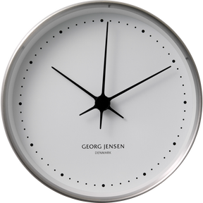 KOPPEL 10 cm wall clock, stainless steel with white dial