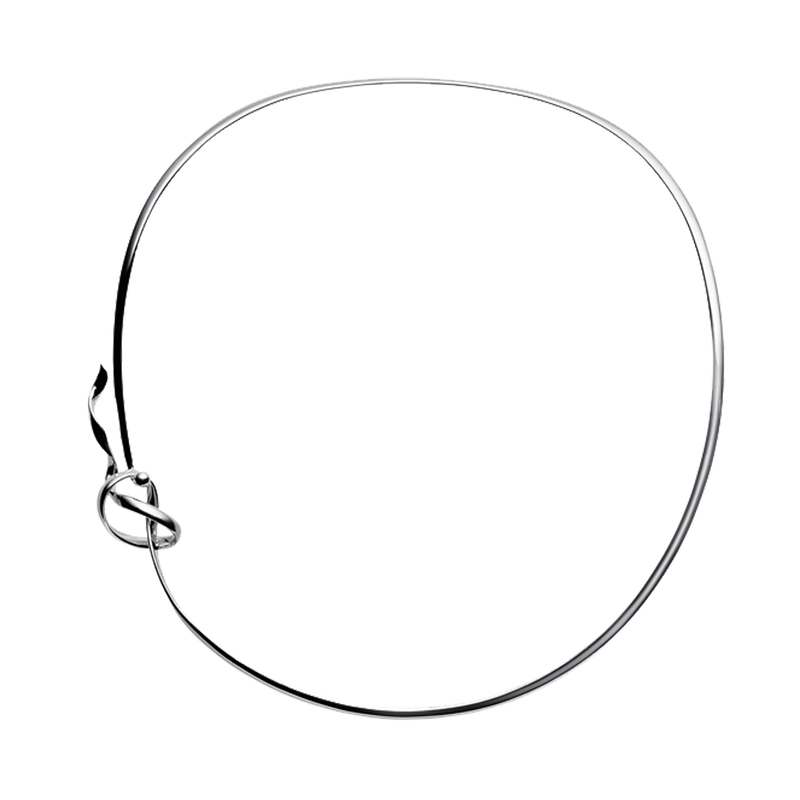 FORGET-ME-KNOT neck ring - sterling silver