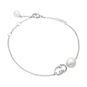 MAGIC bracelet - 18 kt. white gold with pearls and diamonds