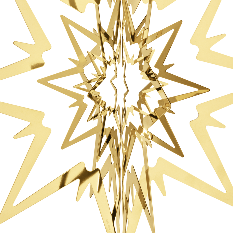 TOP STAR, gold plated, large