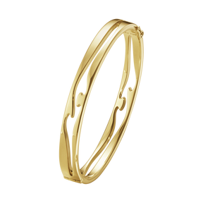 FUSION open bangle – 18 kt  yellow gold