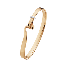 TORUN bangle - 18 kt. rose gold with brilliant cut diamonds