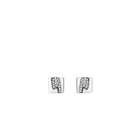 FUSION earrings - 18 kt. white gold with pavé set brilliants