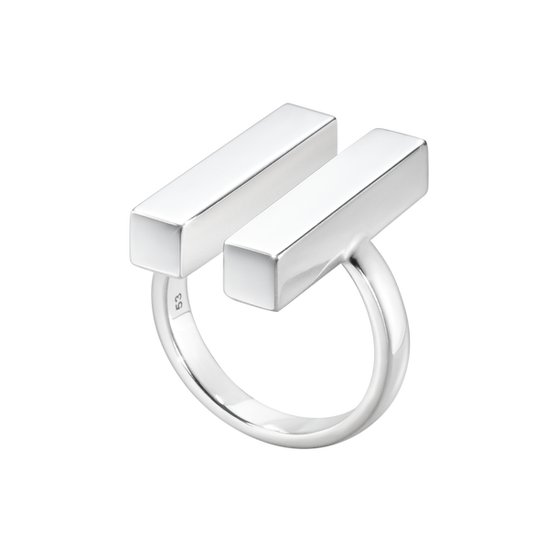 ARIA ring - two bar, sterling silver