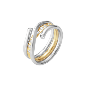 MAGIC ring combination - 18 kt. white gold and yellow gold with brilliant cut diamonds
