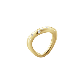 OFFSPRING ring, 18 karat yellow gold diamond 0.14 CT