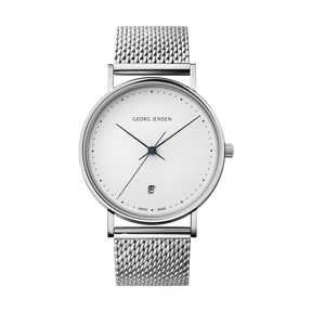 KOPPEL - 38 mm, Quartz, white dial, steel bracelet