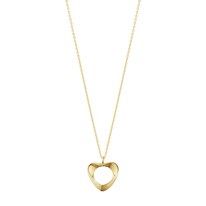 HEARTS OF GEORG JENSEN pendant - 18 kt. yellow gold, small