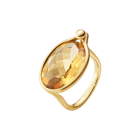 SAVANNAH Ring - 18 kt Gelbgold mit Citrin