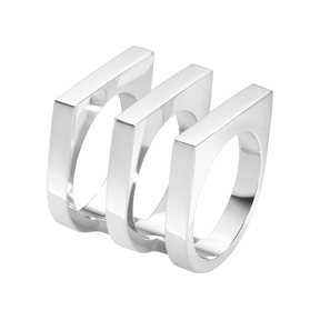 ARIA ring - three row, sterling silver