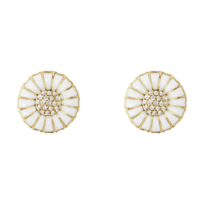 DAISY earrings - gold plated sterling silver with diamonds