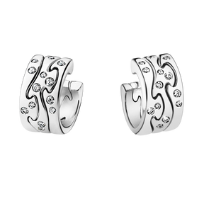 FUSION earrings - 18 kt. white gold with brilliant cut diamonds