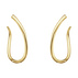 INFINITY earrings - 18 kt. yellow gold