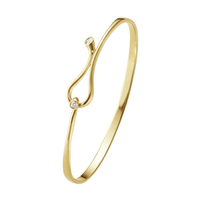 MAGIC bangle  - 18 kt. yellow gold with brilliant cut diamonds
