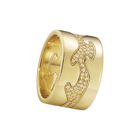 Fusion 3-piece ring - 18 kt. yellow gold with yellow sapphires