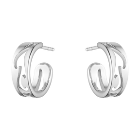 FUSION open earhoop – 18 kt. white gold