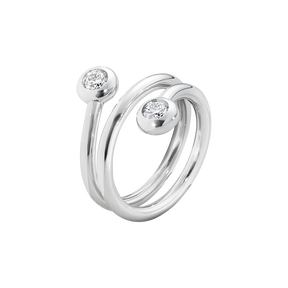 AURORA ring - 18 kt. white gold with brilliant cut diamonds