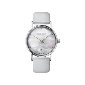 KOPPEL - 32 mm, Quartz, white mother-of-pearl dial, grey satin strap