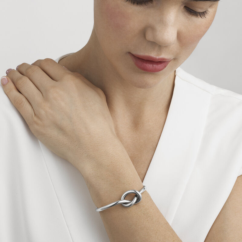 Love Knot Sterling Silver Bangle I