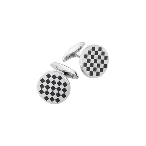 147A cufflinks - sterling silver with enamel