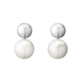 MOONLIGHT GRAPES earrings - sterling silver with white pearl