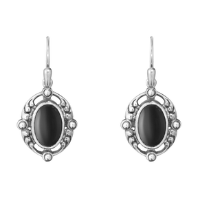 2018 HERITAGE earrings - sterling silver with black onyx
