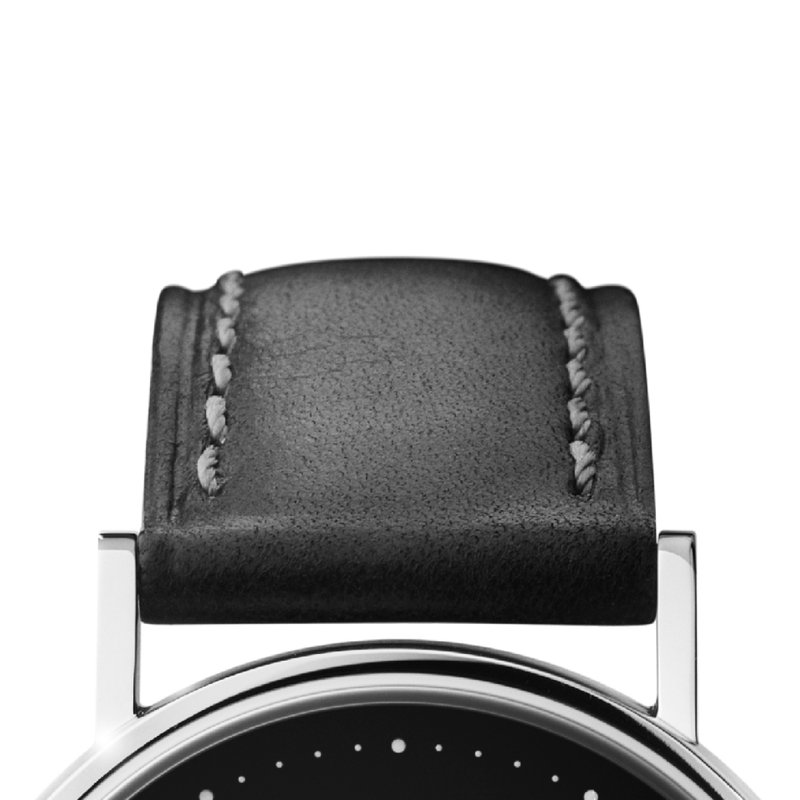 KOPPEL strap -  32 mm, black leather M
