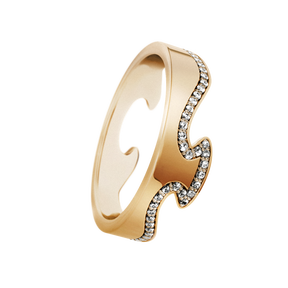 FUSION end ring - 18 kt. yellow gold with brilliant cut diamonds