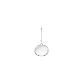 DEW DROP pendant - sterling silver with rock crystal