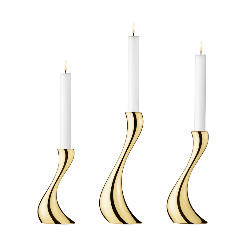 COBRA candleholder set, gold plated