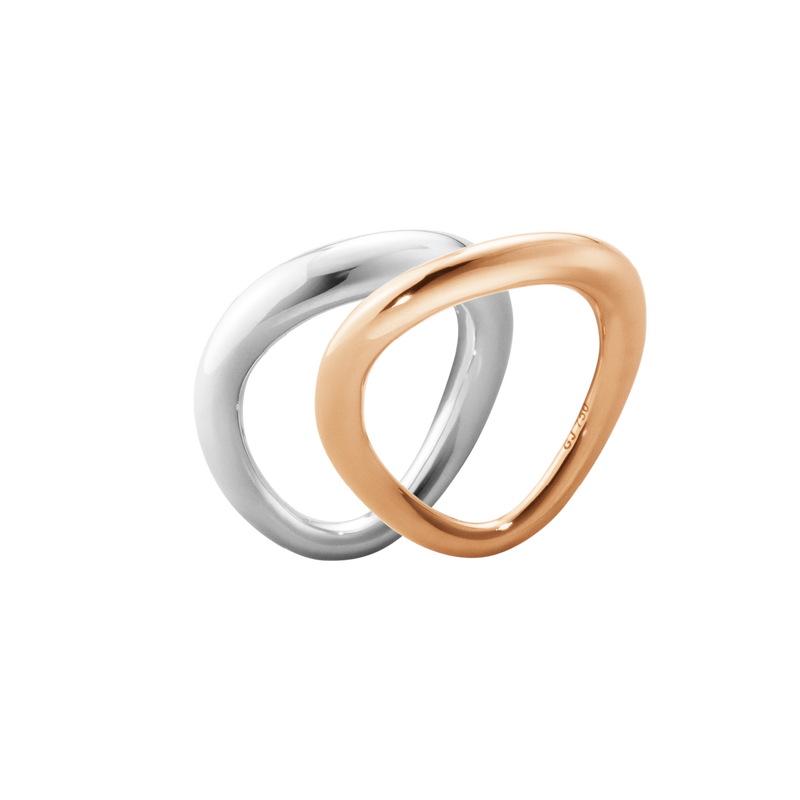 OFFSPRING ring combination - 18 kt. rose gold and sterling silver